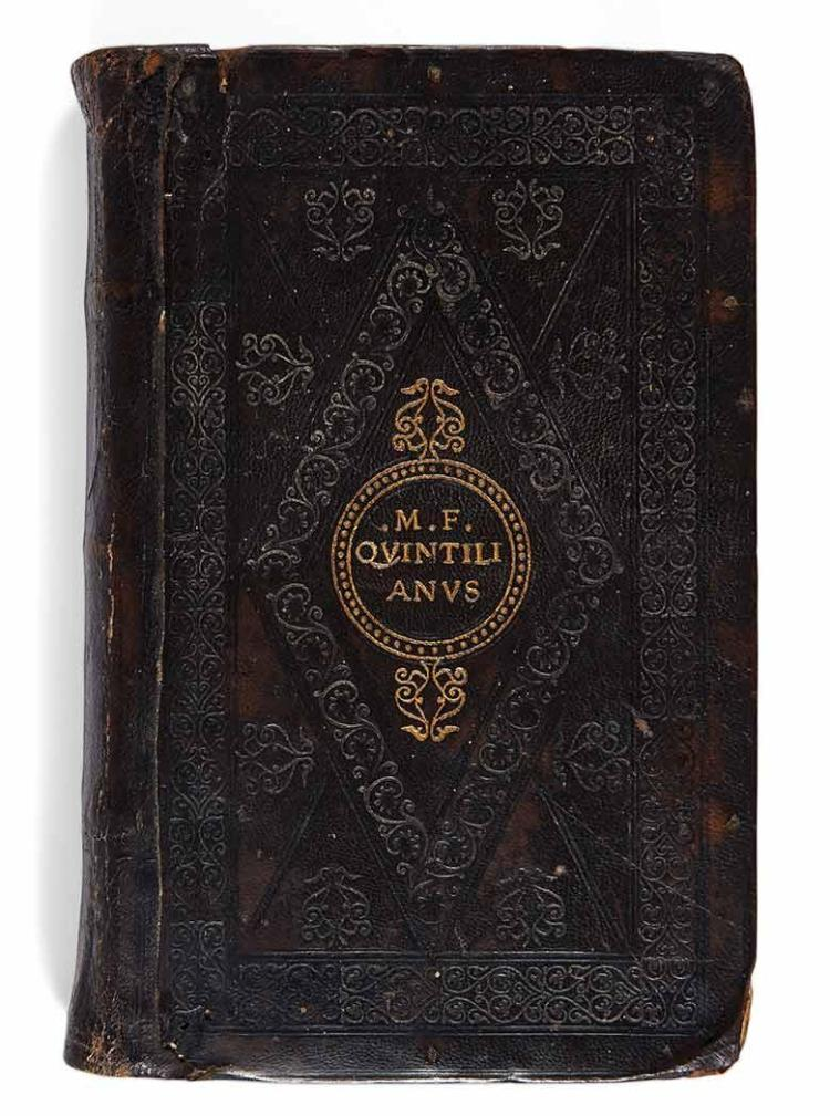 [EARLY PRINTING] QUINTILIANUS, MARCUS FABIUS. De Instituione Oratoria. Venice: Aldus, August 1514. First Aldine edition. Ear...