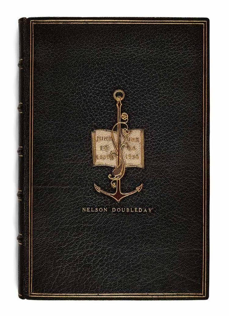 [DOUBLEDAY MEMORIALS-FINE BINDINGS] Group of specially bound memorials relating to the Doubleday firm and family, each by Th...