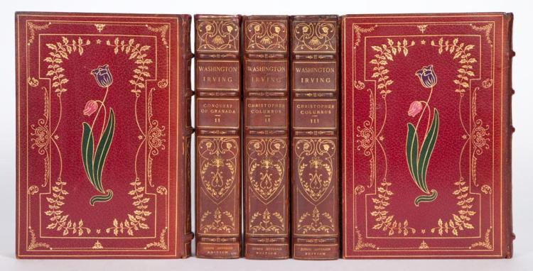 IRVING, WASHINGTON. Works. New York: Putnam''s, 1901. The Joseph Jefferson edition, number 184 of 250 sets. 35 volumes (of poss...