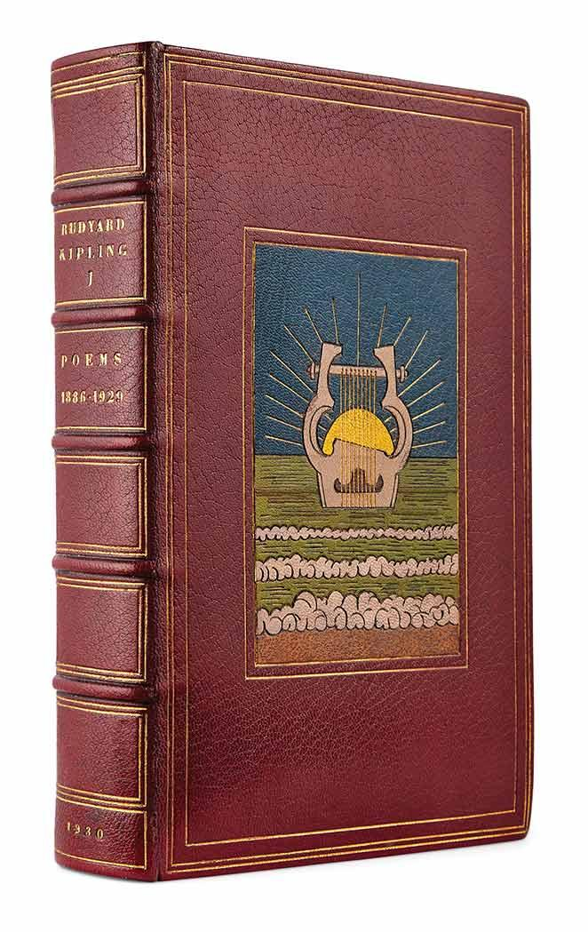 KIPLING, RUDYARD. Poems 1886-1929. Garden City: Doubleday, Doran, 1930. First edition, copy number 3 of 12 presentation sets,...
