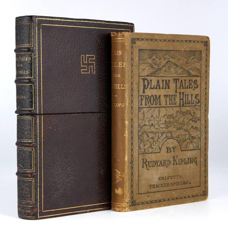 KIPLING, RUDYARD A large Kipling miscellany, approximately fifty volumes, being first and later editions from the 1890s onwa...