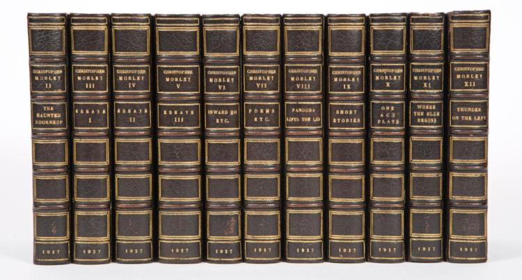 MORLEY, CHRISTOPHER Works. Garden City: Doubleday, Page, 1927. The Haverford Edition, set 3 of 1000 signed by the author. 12...
