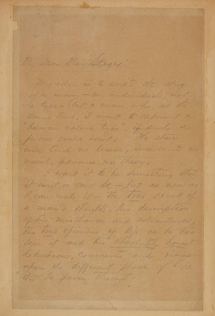 [O. HENRY] PORTER, WILLIAM SYDNEY Mansucript titled