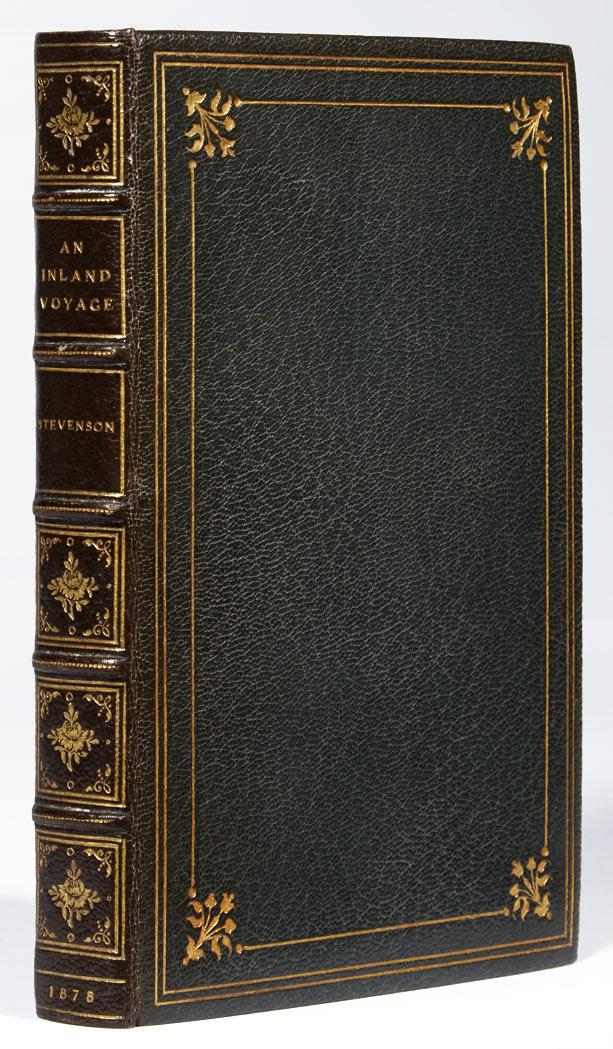 STEVENSON, ROBERT LOUIS An Inland Voyage. London: C. Kegan Paul, 1878. First edition. Full morocco by Stikeman, cloth covers...