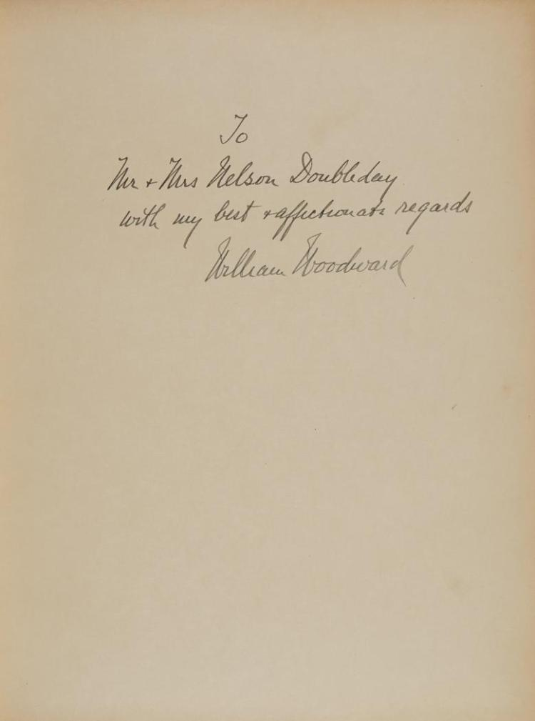 WOODWARD, WILLIAM Cherished Portraits of Thoroughbred Horses. [N.p.:] Privately Printed, 1929. Inscribed to Mr. & Mrs. Nelso...