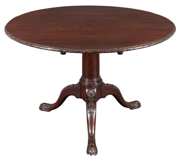 George II Style Mahogany Tilt-Top Table