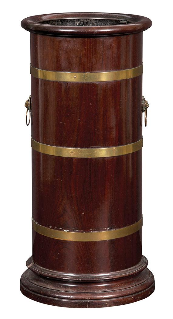 Regency Style Brass Bound Mahogany Umbrella Stand