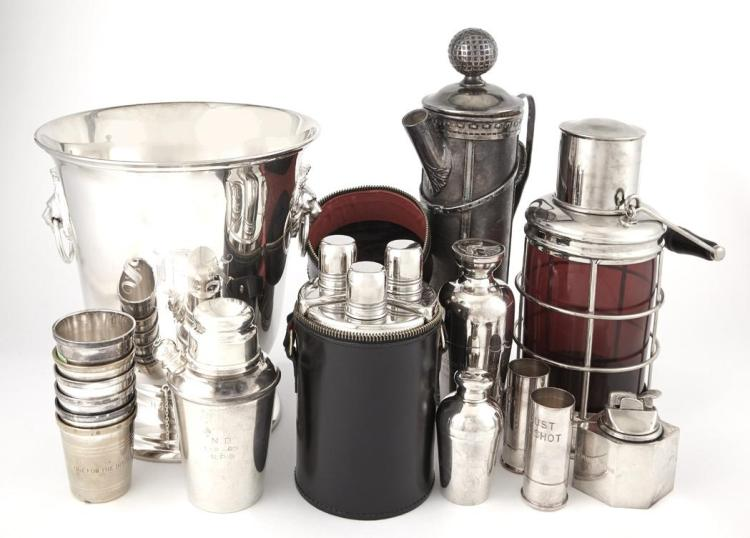 Group of Silver Plated Bar Ware