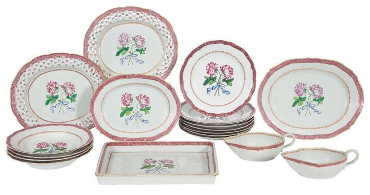 Chinese Export Famille Rose Porcelain Dessert Service