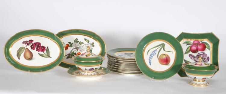 English Porcelain Dessert Service