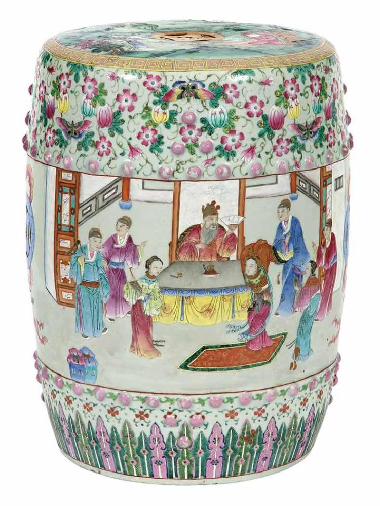 Chinese Famille Rose Porcelain Garden Seat