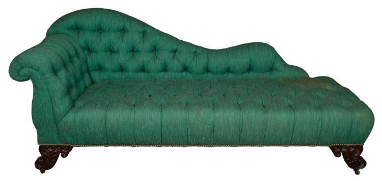Victorian Style Mahogany Recamier