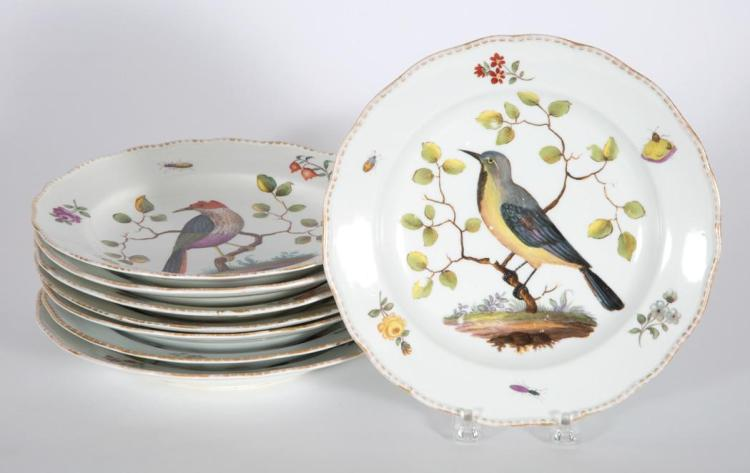 Set of Eight Meissen Porcelain Bowls