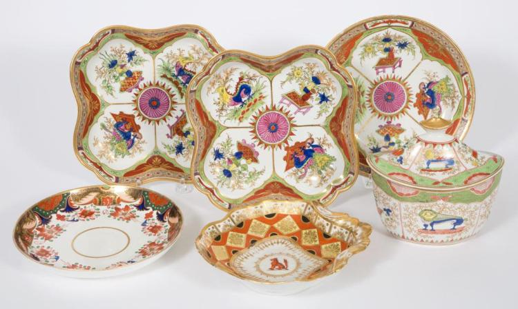 Group of English Porcelain Table Articles