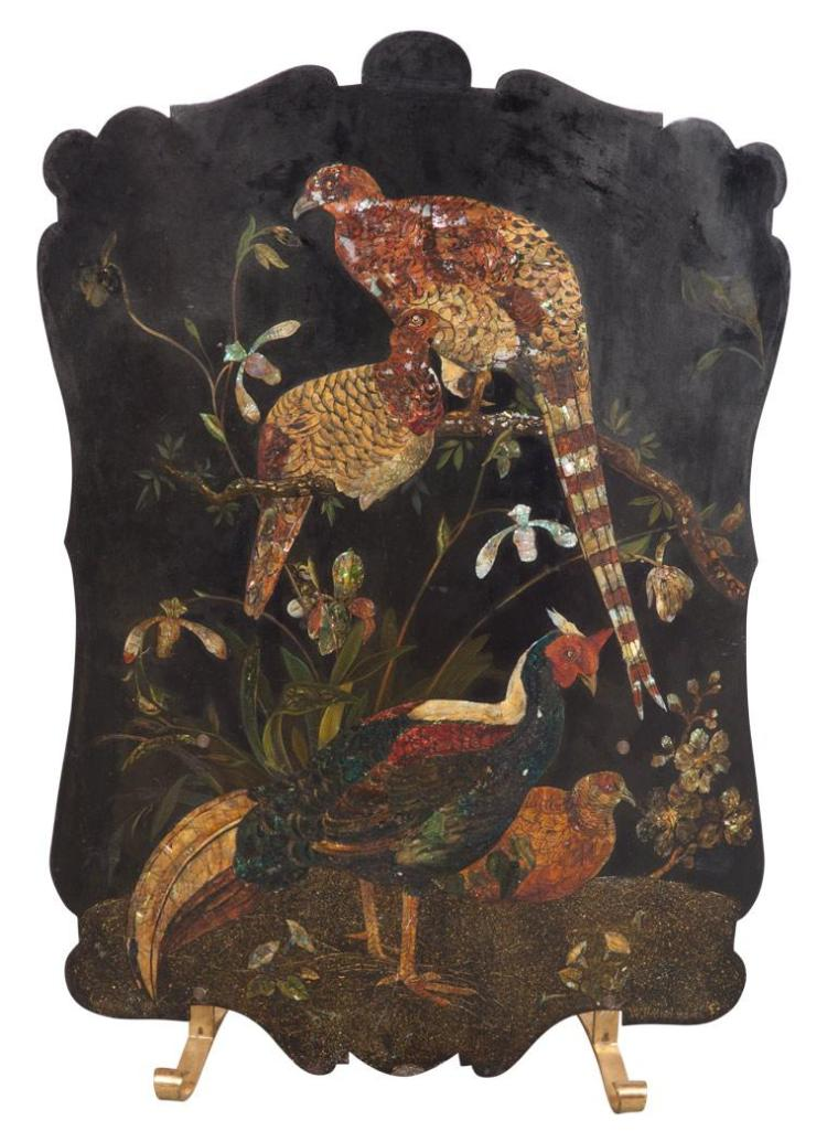 Painted Tole Fire Screen