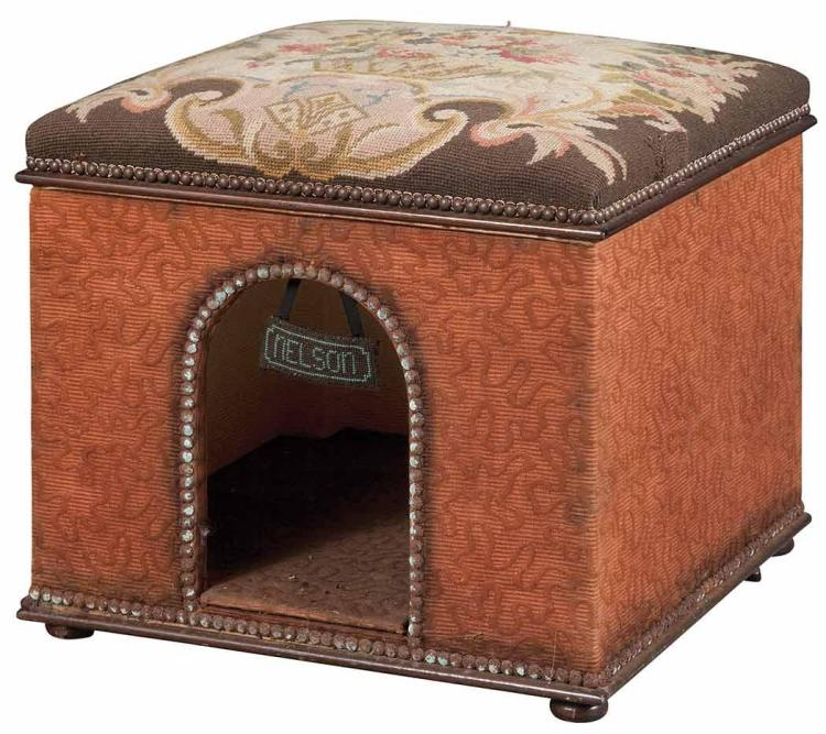 Needlework Covered Dog House