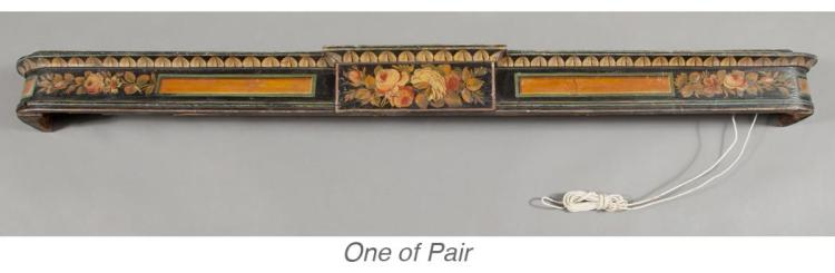 Pair of Regency Painted Pelmets