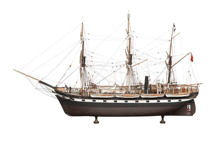 Model of the Arctic Whale Ship Hope by Lt. Col. Colin B. Gray MBE of Nantucket (1915-1992)