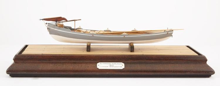 Model of a Peterhead Whaleboat by Lt. Col. Colin B. Gray MBE of Nantucket (1915-1992)   Built to a scale of 1/3