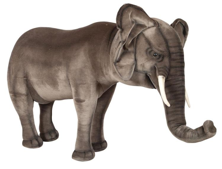 FAO Schwartz Stuffed Figure of an Elephant