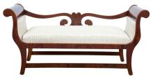 Austrian Neoclassical Mahogany Bench