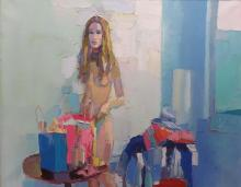 Nicola Simbari Italian, 1927-2012 Blue Interior