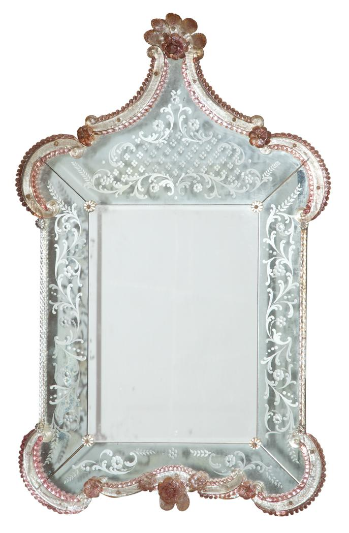 Venetian Style Mirror Framed Mirror Height 48 Inches Width