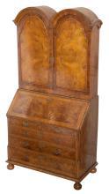 George II Style Walnut Secretary Bookcase