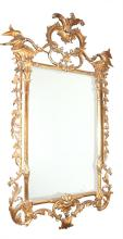 George III Style Giltwood and Composition Mirror