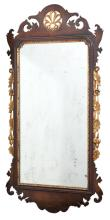 George II Style Gold Painted Mahogany Mirror