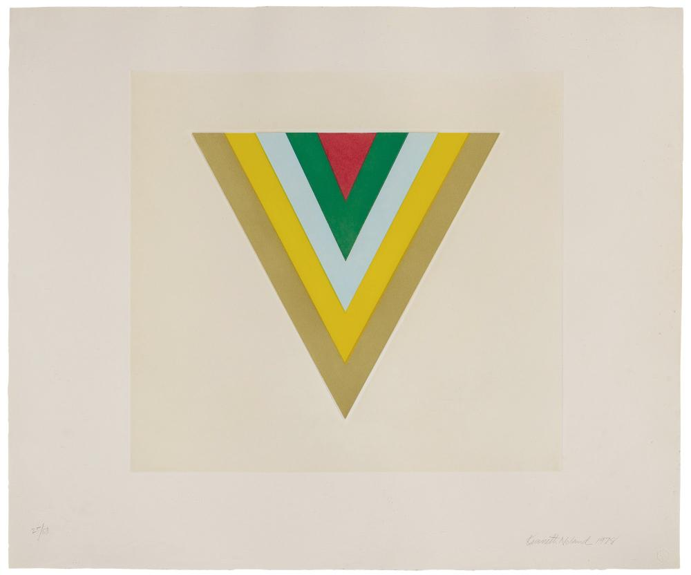 Kenneth Noland ECHO (TYLER 463; KN2) Color aquatint and embossing
