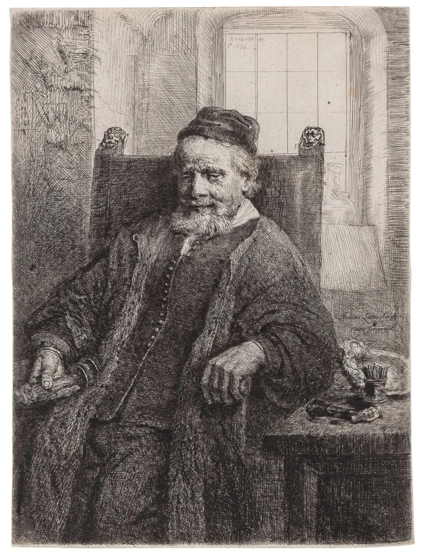 Rembrandt van Rijn JAN LUTMA, GOLDSMITH (BARTSCH 276; HIND 290; NEW HOLLSTEIN 293) Etching and drypoint