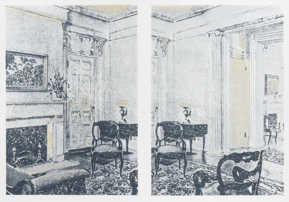 Richard Artschwager INTERIOR Color screenprint