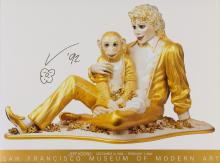 Jeff Koons MICHAEL JACKSON AND BUBBLES Color offset lithograph poster