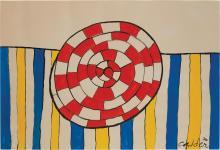 Alexander Calder American, 1898-1976 Wheel and Stripes, 1970