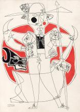 Manolo Millares Spanish, 1926-1972 Untitled