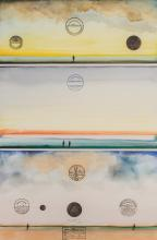 Saul Steinberg American, 1914-1999 Three Long Island Sunsets, 1971