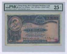 Hong Kong and Shanghai Banking Corp. 1927 $10 Pick 174a