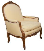 Louis XV Style Beechwood Bergère à la Reine