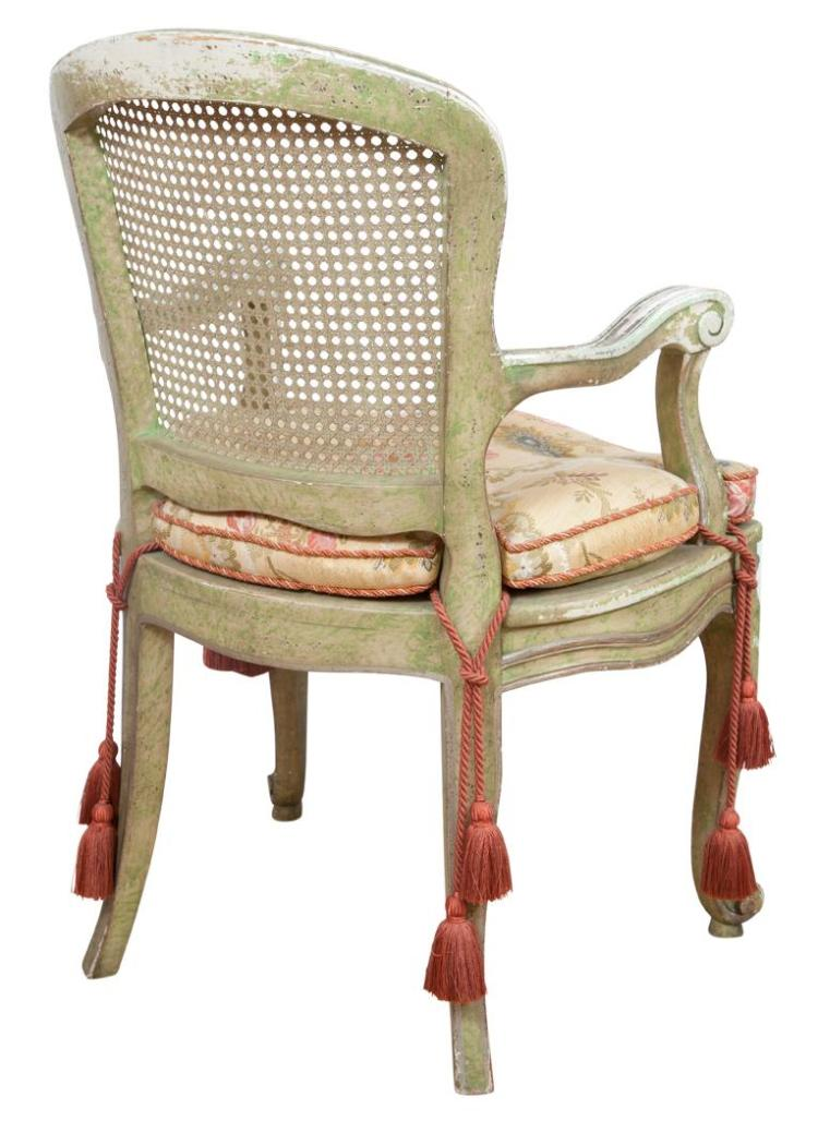 Set of four louis xv style painted fauteuils en cabriolet - Fauteuil cabriolet louis xv ...