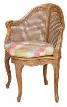 Louis XV Style Beechwood Fauteuil de Bureau