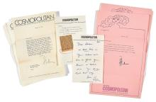 BROWN, HELEN GURLEY Large group of signed letters and an inscribed book. New York: circa 1970-2000. Comprising approxi...