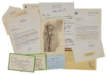 [AILEEN MEHLE] Group of miscellaneous correspondence items sent to Aileen Mehle.  Various dates. Includes autograph and type...