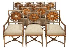 Suite of Russian Neoclassical Brass Mounted Mahogany Seating Furniture