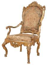 Venetian Rococo Giltwood Armchair