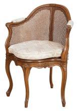 Louis XV Beechwood Fauteuil de Bureau
