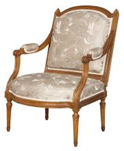 Louis XVI Beechwood Fauteuil à la Reine