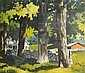 Edmund Walton Blodgett American, 1908-1964 Trees, Stone Wall and Houses, Walton Blodgett, Click for value