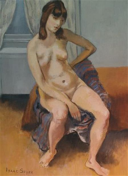 Isaac Soyer American, 1902-1981 Interior with Nude