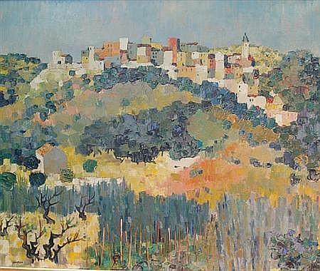 Guy Charon French, b. 1927 Mediterranean Landscape